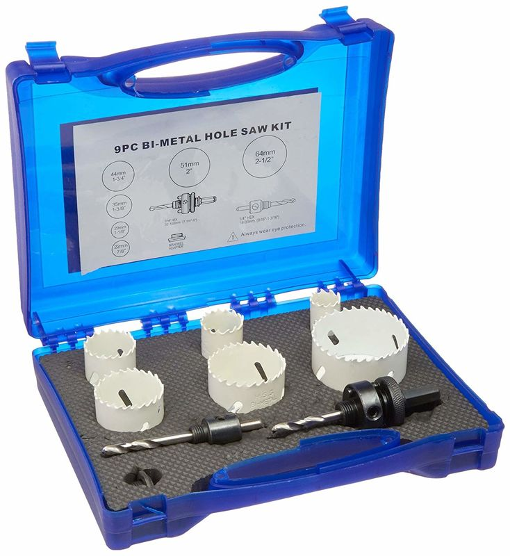 Bi Metal HSS Hole Saw Set M3/M42 For Wood / Metal With Plastic Case Packing